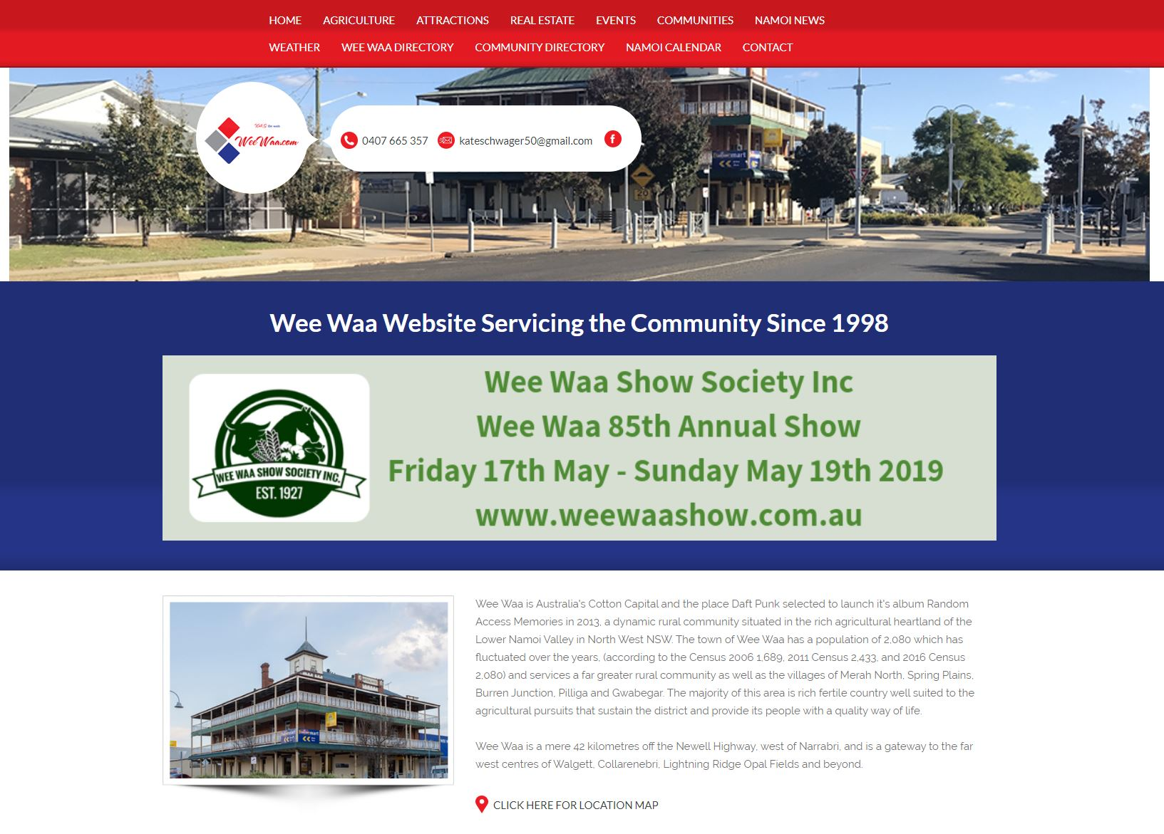 Wee Waa Website